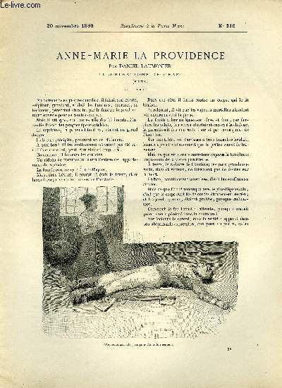 SUPPLEMENT A LA REVUE MAME N° 216 - Anne-Marie la providence (suite) par Daniel Laumonier, illustrations de Orazi