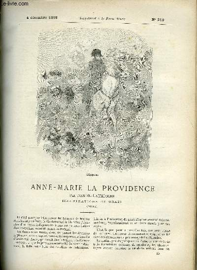 SUPPLEMENT A LA REVUE MAME N° 218 - Anne-Marie la providence (suite) par Daniel Laumonier, illustrations de Orazi