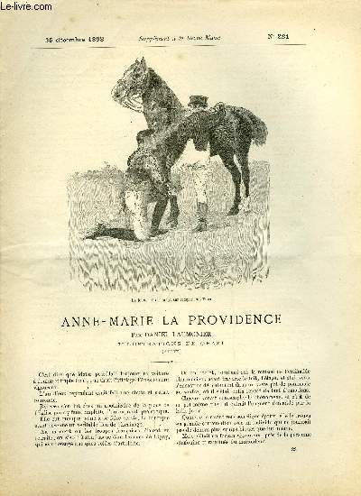 SUPPLEMENT A LA REVUE MAME N° 221 - Anne-Marie la providence (suite) par Daniel Laumonier, illustrations de Orazi
