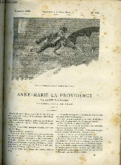 SUPPLEMENT A LA REVUE MAME N° 223 - Anne-Marie la providence (suite) par Daniel Laumonier, illustrations de Orazi