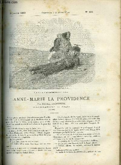 SUPPLEMENT A LA REVUE MAME N° 225 - Anne-Marie la providence (suite) par Daniel Laumonier, illustrations de Orazi