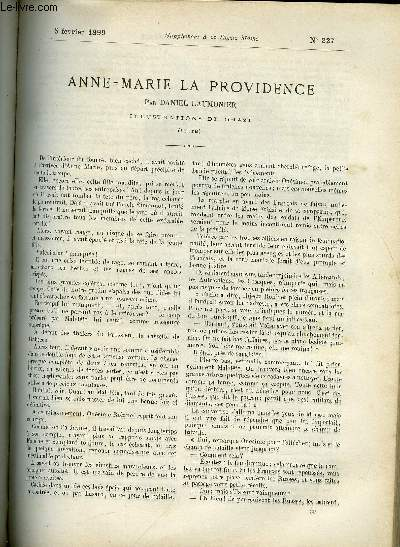 SUPPLEMENT A LA REVUE MAME N° 227 - Anne-Marie la providence (suite) par Daniel Laumonier, illustrations de Orazi