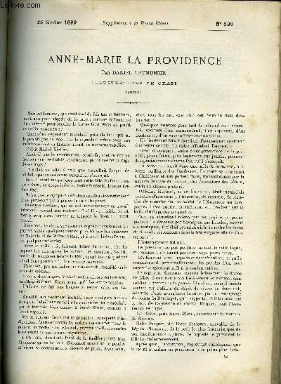 SUPPLEMENT A LA REVUE MAME N° 230 - Anne-Marie la providence (fin) Epilogue par Daniel Laumonier, illustrations de Orazi