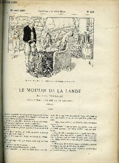 SUPPLEMENT A LA REVUE MAME N° 239 - Le moulin a la Lande (suite) XI. Retour par P.M. Vignault, illustrations de René Lelong