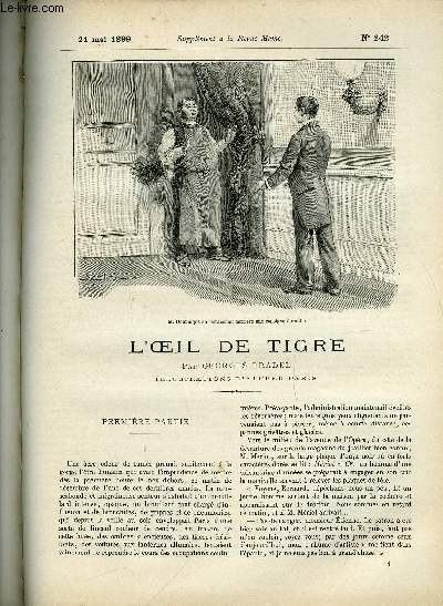 SUPPLEMENT A LA REVUE MAME N° 242 - L'oeil de tigre par Georges Pradel, illustrations d'Alfred Paris - Première partie