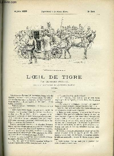 SUPPLEMENT A LA REVUE MAME N° 244 - L'oeil de tigre (suite) par Georges Pradel, illustrations d'Alfred Paris