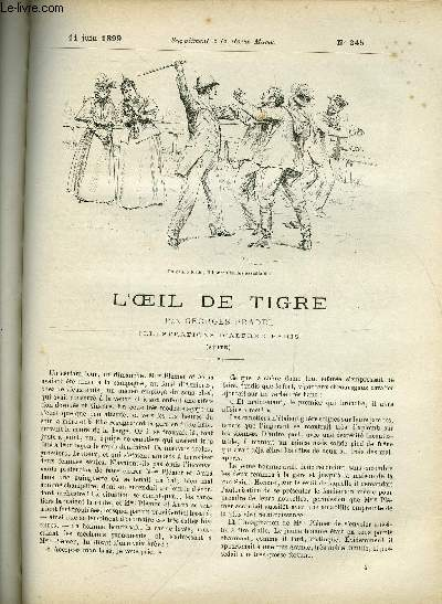 SUPPLEMENT A LA REVUE MAME N° 245 - L'oeil de tigre (suite) III. par Georges Pradel, illustrations d'Alfred Paris