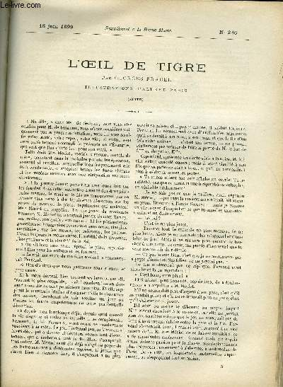 SUPPLEMENT A LA REVUE MAME N° 246 - L'oeil de tigre (suite) par Georges Pradel, illustrations d'Alfred Paris