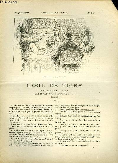 SUPPLEMENT A LA REVUE MAME N° 247 - L'oeil de tigre (suite) VI. par Georges Pradel, illustrations d'Alfred Paris