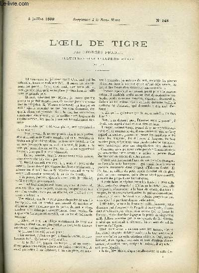 SUPPLEMENT A LA REVUE MAME N° 248 - L'oeil de tigre (suite) par Georges Pradel, illustrations d'Alfred Paris