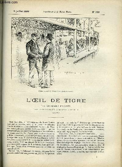 SUPPLEMENT A LA REVUE MAME N° 249 - L'oeil de tigre (suite) V. par Georges Pradel, illustrations d'Alfred Paris