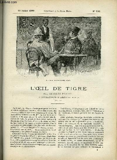 SUPPLEMENT A LA REVUE MAME N° 250 - L'oeil de tigre (suite) par Georges Pradel, illustrations d'Alfred Paris