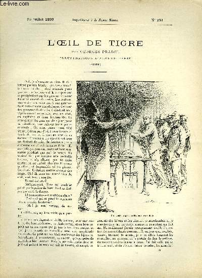 SUPPLEMENT A LA REVUE MAME N° 251 - L'oeil de tigre (suite) par Georges Pradel, illustrations d'Alfred Paris