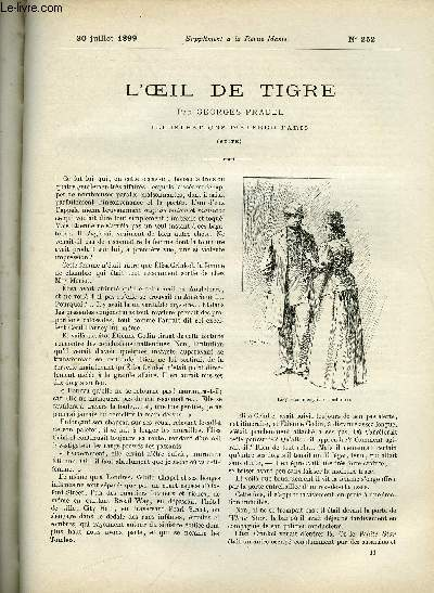 SUPPLEMENT A LA REVUE MAME N° 252 - L'oeil de tigre (suite) par Georges Pradel, illustrations d'Alfred Paris