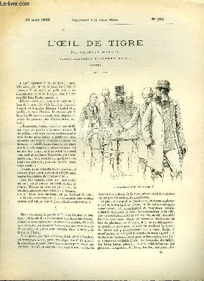 SUPPLEMENT A LA REVUE MAME N° 255 - L'oeil de tigre (suite) par Georges Pradel, illustrations d'Alfred Paris