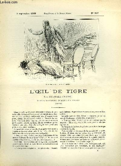 SUPPLEMENT A LA REVUE MAME N° 257 - L'oeil de tigre (suite) par Georges Pradel, illustrations d'Alfred Paris