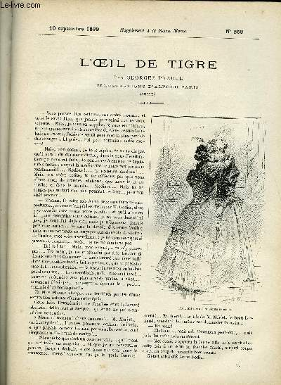 SUPPLEMENT A LA REVUE MAME N° 258 - L'oeil de tigre (suite) II. par Georges Pradel, illustrations d'Alfred Paris