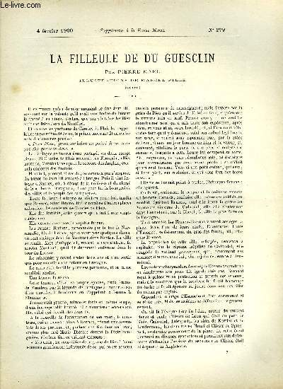 SUPPLEMENT A LA REVUE MAME N° 279 - La filleule de Du Guesclin (suite) par Pierre Mael, illustrations de Marcel Pille