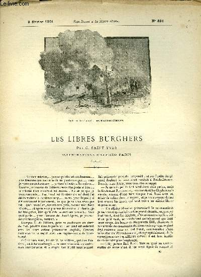 SUPPLEMENT A LA REVUE MAME N° 331 - Les libres burghers (fin) par G. Saint-Yves, illustrations d'Alfred Paris