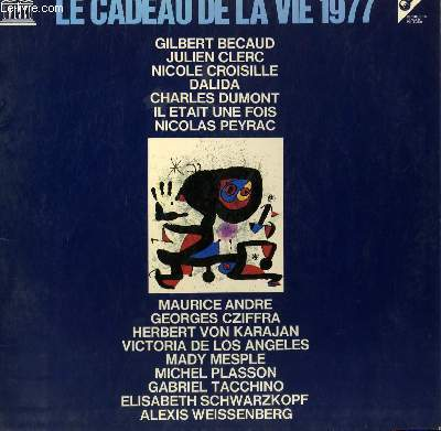 DISQUE VINYLE 33T  MARYLIN DE N. PEYRAC / UNE FEMME AVEC TOI DE N. CROISILLE / LE RHONE DE G. BECAUD / TOURNE LA PAGE DE IL ETAIT UNE FOIS / LE COEUR TROP GRAND POUR MOI DE J. CLERC / ELLE DE C. DUMONT ...