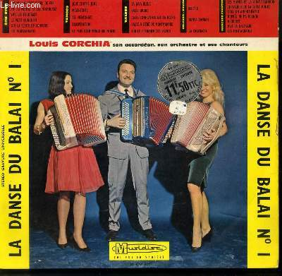 DISQUE VINYLE 33T LA DANSE DU BALAI N°1 / ONE STEP / TANGOS / VALSES / BOLEROS - RUMBAS / MARCHES CHANTEES.
