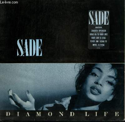 DISQUE VINYLE 33T DIAMOND LIFE / SMOOTH OPERATOR / HANG ON TO YOUR LIFE / YOUR LOVE IS KING / WHEN AM I GOING TO / MAKE A LIVING...