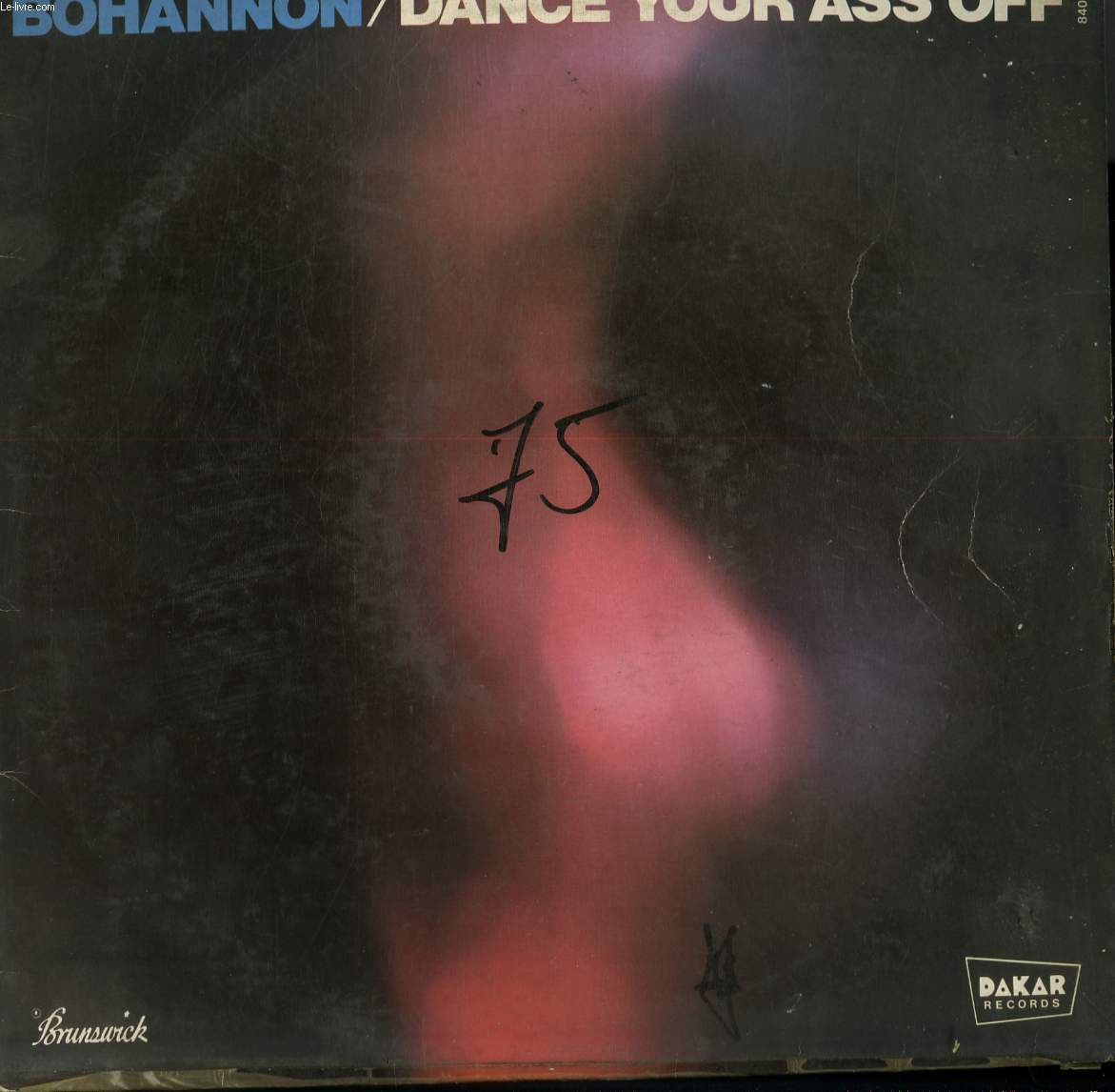DISQUE VINYLE 33T DANCE YOUR ASS OFF / THE GROVE I FEEL / ZULU / PARTY PEOPLE / TRYING TO BE SLICK / SPREAD THE GROOVE AROUND / BOHANNON'S THEME.