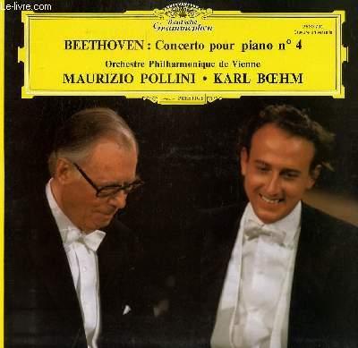 DISQUE VINYLE 33T CONCERTO POUR PIANO N°4. PAR L'ORCHESTRE PHILHARMONIQUE DE VIENNE. AVEC MAURIZIO POLLINI ET KARL BOEHM.