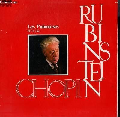 DISQUE VINYLE 33T LES POLONAISES N°1 A 6 AVEC ARTHUR RUBINSTEIN AU PIANO.