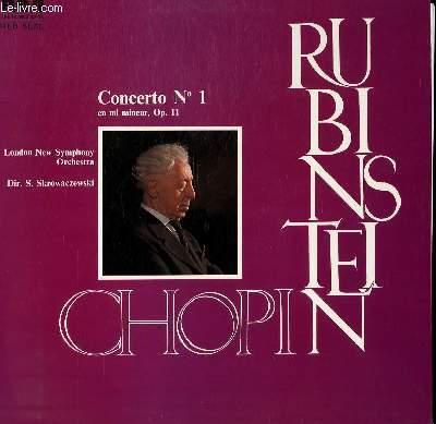 DISQUE VINYLE 33T CONCERTO N°1 EN MI MINEUR, OP11. PAR THE LONDON NEW SYMPHONY ORCHESTRA SOUS LA DIRECTION DE  S. SKROWACZEWSKI, AVEC ARTHUR RUBINSTEIN AU PIANO.