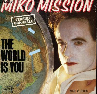 DISQUE VINYLE MAXI 45 T. THE WORLD IS YOU.