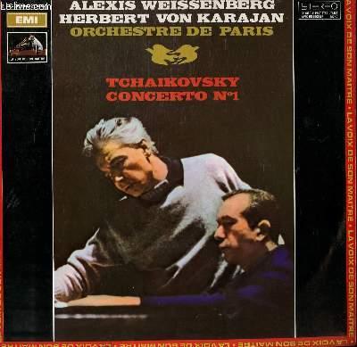 DISQUE VINYLE 33T CONCERTO N°1. PAR L'ORCHESTRE DE PARIS SOUS LA DIRECTION DE HERBERT VON KARAJAN ET AVEC ALEXIS WEISSENBERG AU PIANO.