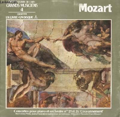 DISQUE VINYLE 33T CONCERTOS POUR PIANO ET ORCHESTRE N°21 ET 26