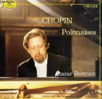 DISQUE VINYLE 33T POLONAISESPOUR PIANO AVEC LAZAR BERMAN.