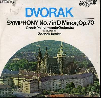 DISQUE VINYLE 33T SYMPHONY N°7 IN D MINOR, OP 70. PAR LE CZECH PHILHARMONIQUE ORCHESTRA SOUS LA DIRECTION DE ZDENEK KOSLER;