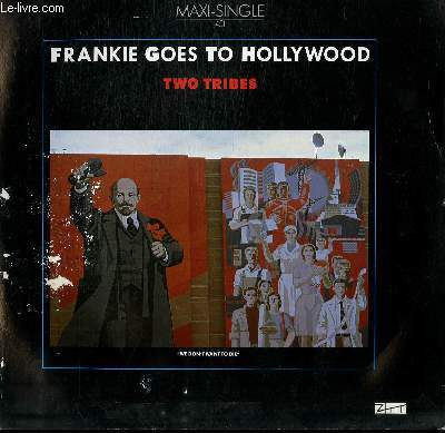 DISQUE VINYLE MAXI 45T. TWO TRIBES / WAR.