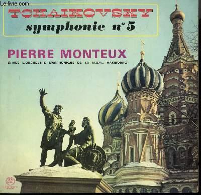 DISQUE VINYLE 33T SYMPHONIE N°5. PAR L'ORCHESTRE SYMPHONIQUE DE LA N.D.R. DE HAMBOURG SOUS LA DIRECTION DE PIERRE MONTEUX.