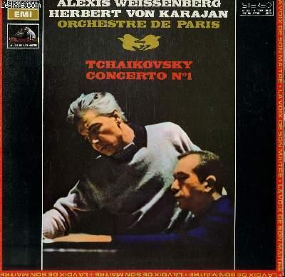 DISQUE VINYLE 33T CONCERTO N°1. PAR L'ORCHESTRE DE PARIS SOUS LA DIRECTION DE HERBERT VON KARAJAN AVEC ALEXIS WEISSENBERG AU PIANO.