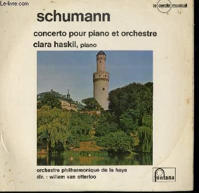 DISQUE VINYLE 33T CONCERTO POUR PIANO ET ORCHESTRE. PAR L'ORCHESTRE PHILHARMONIQUE DE LA HAYE SOUS LA DIRECTION DE WILLEM VAN OTTERLOO. AVEC CLARA HASKIL AU PIANO.