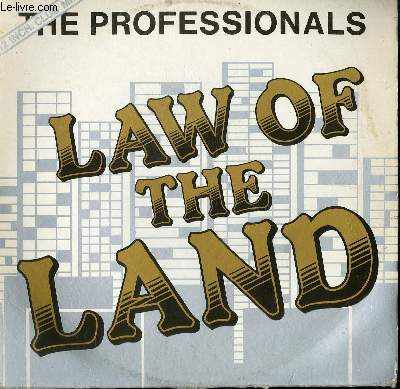 DISQUE VINYLE MAXI 45T LAW OF THE LAND. NOBODY'S LAND.