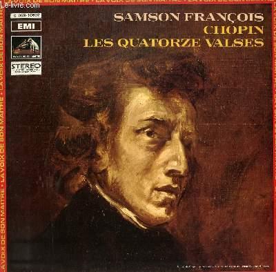 DISQUE VINYLE 33T  LES QUATORZE VALSES. AVEC SAMSON FRANCOIS AU PIANO.