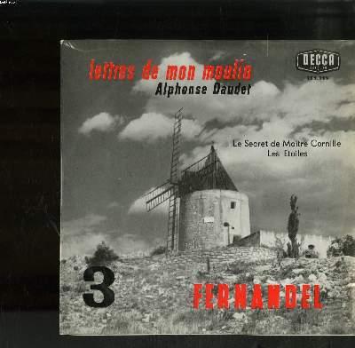 DISQUE VINYLE 33T PETIT FORMAT / VOL3 LETTRES DE MON MOULIN / ALPHONSE DAUDET / LE SECRET DE MAITRE CORNILLE / LES ETOILES