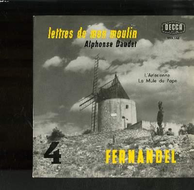DISQUE VINYLE 33T PETIT FORMAT / VOL4 LETTRES DE MON MOULIN / ALPHONSE DAUDET / L'ARLESIENNE / LA MULE DU PAPE