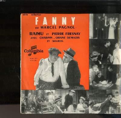 DISQUE VINYLE 33T PETIT FORMAT / FANNY DE MARCEL PAGNOL