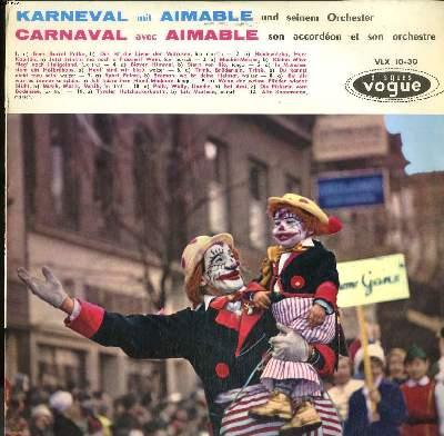 DISQUE VINYLE 33T / CARNAVAL AVEC... / KARNEVAL MIT...