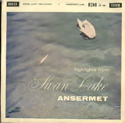 DISQUE VINYLE 33T / HIGHLIGHTS FROM SWAN LAKE OP20