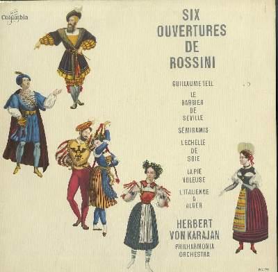 DISQUE VINYLE 33T / SIX OUVERTURES DE ROSSINI / GUILLAUME TELL, LE BARBIER DE SEVILLE, SEMIRAMIS, L'ECHELLE DE SOIE...