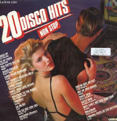 DISQUE VINYLE 33T SADDLE UP, EYE OF TIGER, YOU GOTTA GET UP, DISCO PROJECT, LONG TRAIN BUNNIG, MY HEART'S BEATING WILD, I DON'T KNOW, FIRST TRUE LOVE AFFAIR, WELCOME TO THE PARTY, I PREDICT, DA DA DA, PASSION.