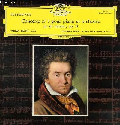 DISQUE VINYLE 33T CONCERTO N°3 POUR PIANO ET ORCHESTRE EN UT MINEUR, OP. 37.