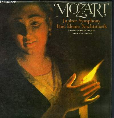 DISQUE VINYLE 33T SYMPHONY NO. 41 IN C MAJOR, K.551. SERENADE FOR SRTING ORCHESTRA, K.525.